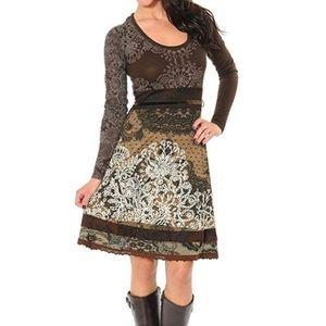 Desigual - Tisdale Brown Floral Dress